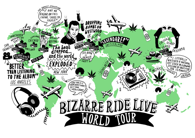 The Pharcyde Tour Map   Jenni Sparks